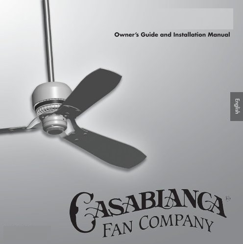 Casablanca Ceiling Fan Manuals